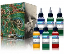 INTENZE DRAGON COLOR TATTOO INK SET 1 OZTUKENDİ